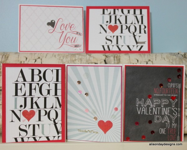Valentine's Card Set by Alison Day Designs