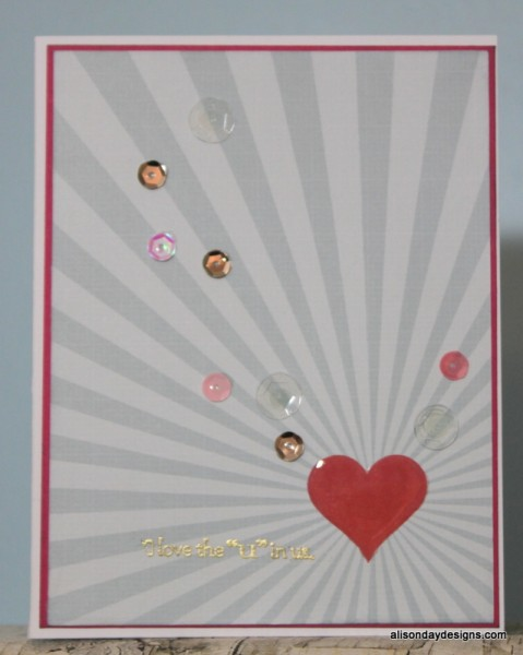 Love the u in Us card by Alison Day Designs