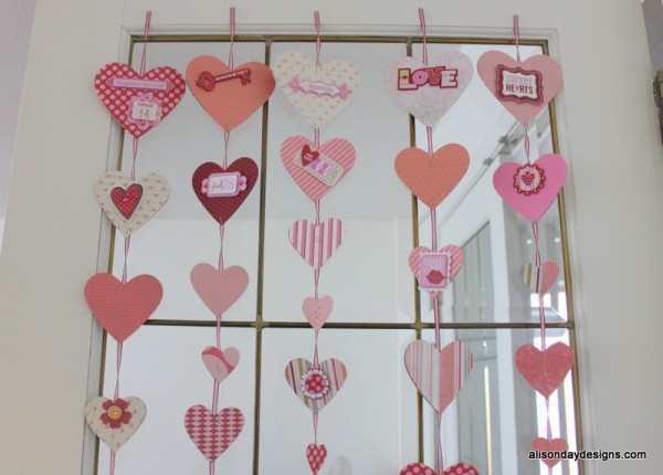 Valentine's garland by Alison Day Designs