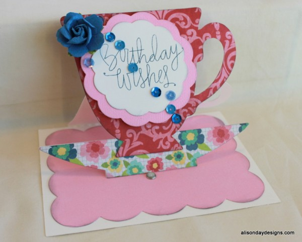 Pop-Up Tea Cup Card by Alison Day Designs