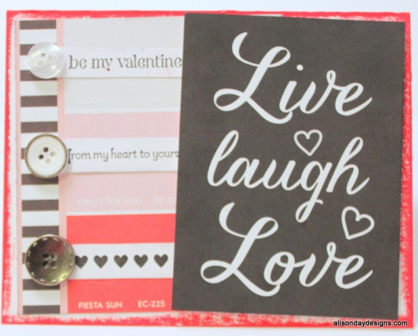 Valentine card by Alison Day Designs