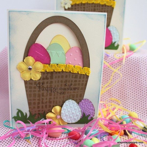 Easter Basket card by Alison Day Designs
