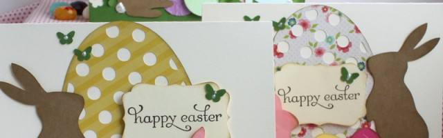 Easter Bunny with Eggs card by Alison Day Designs