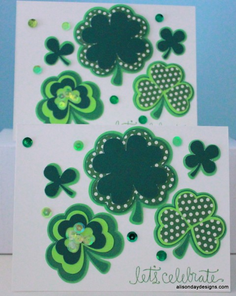 Layered Shamrock Cards by Alison Day Designs