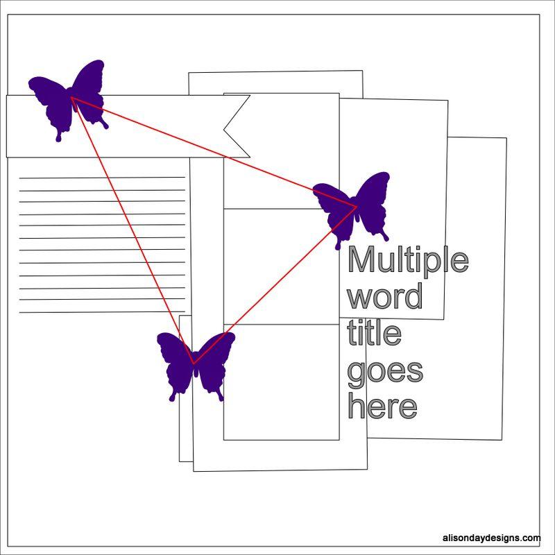 Design Principles post on Ephasis -visual triangle around journaling