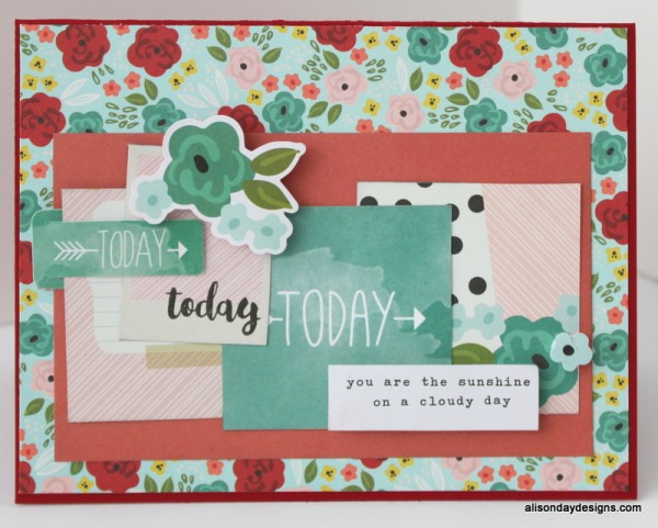 Sunshine on a Cloudy Day card by Alison Day Designs