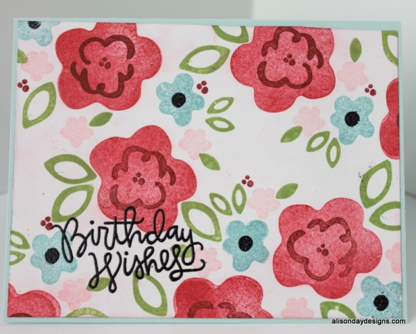 Flowery Birthday Wishes card by Alison Day Designs