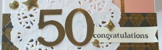 50th wedding anniversary card by Alison Day Designs