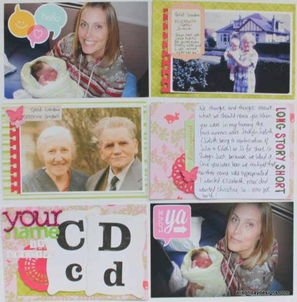 Your Name is Special - a Pocket Page by Alison Day Designs