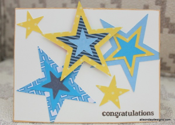 Stars Congratulations Card by Alison Day Designs