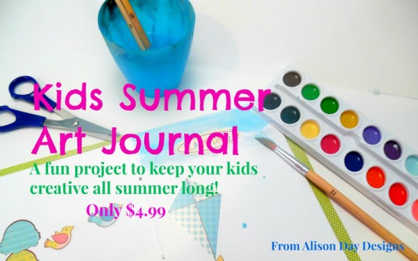 Kids Summer Art Journal by Alison Day Designs