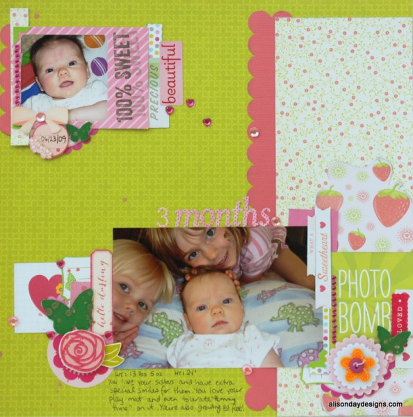 3 Months by Alison Day Designs