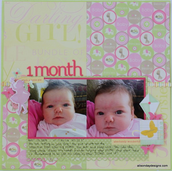 1 Month by Alison Day Designs