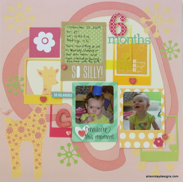 6 Months by Alison Day Designs