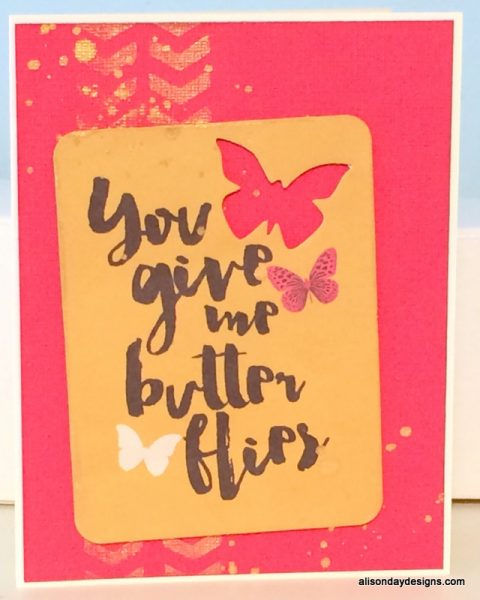 You Give Me Butterflies by Alison Day Designs