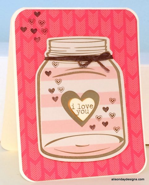 Jar of Hearts I Love You by Alison Day Designs
