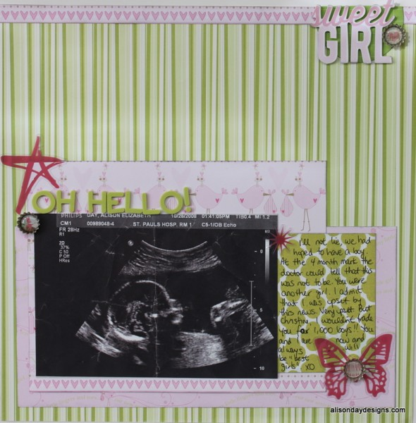 Previous version of Oh Hello by Alison Day Designs