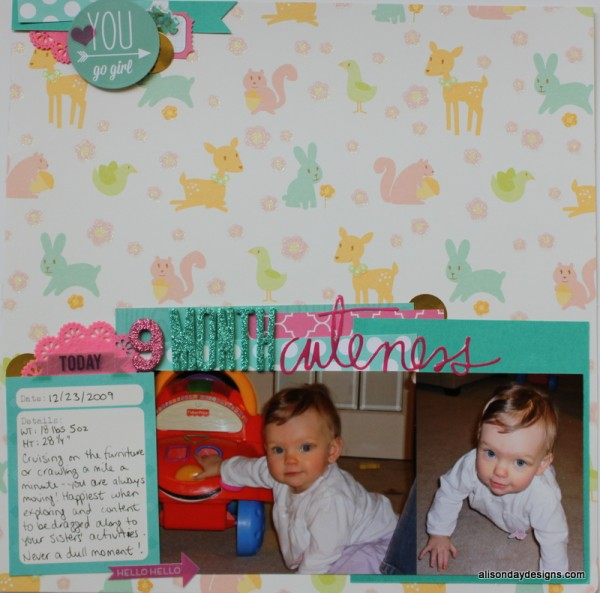 9 Month Cuteness by Alison Day Designs