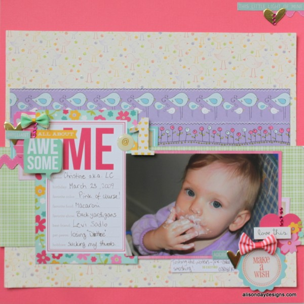 All About ME @ 1 by Alison Day Designs