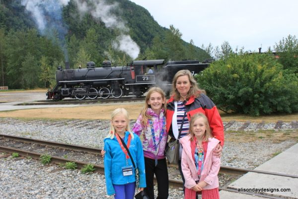 Steam engine in Skagway