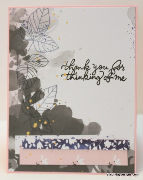 Thank You for Thinking of Me with leaves by Alison Day Designs