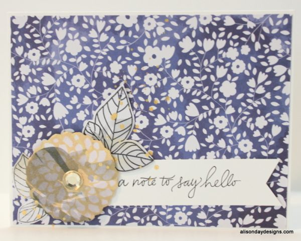 A Note to Say Hello by Alison Day Designs