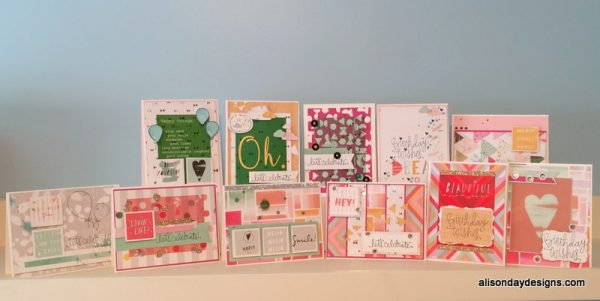 Cards made with Sept15 Simon Says Stamp card kit by Alison Day