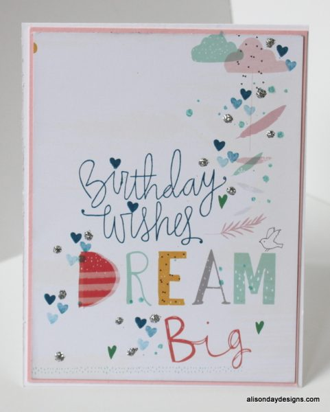 Birthday Wishes Dream Big by Alison Day Designs