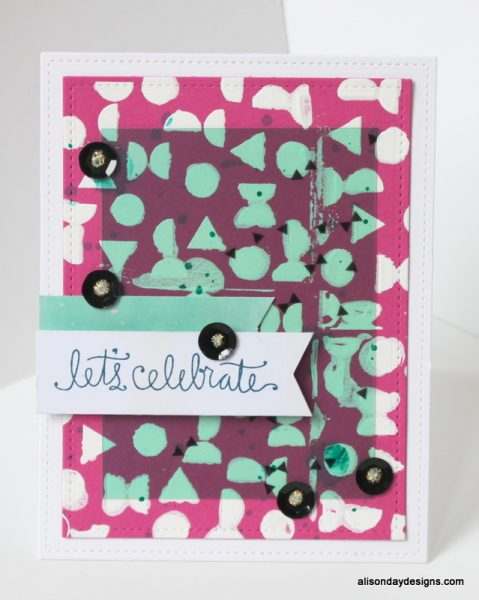 Gessoed Let's Celebrate by Alison Day Designs