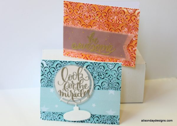 Faux Letterpress cards by Alison Day Designs