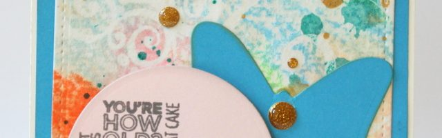 close up of Happy Birthday card by Alison Day Designs