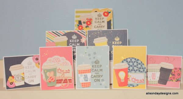 Keep Calm Coffee Collection Cards by Alison Day Designs