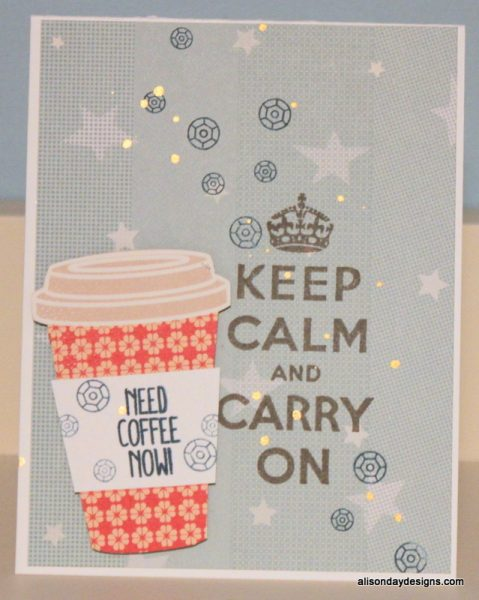 Need Coffee Now Sequins by Alison Day Designs