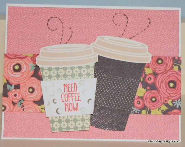 Need Coffee double cup by Alison Day Designs