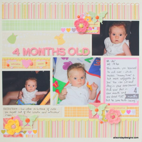 4 Months Old by Alison Day Designs