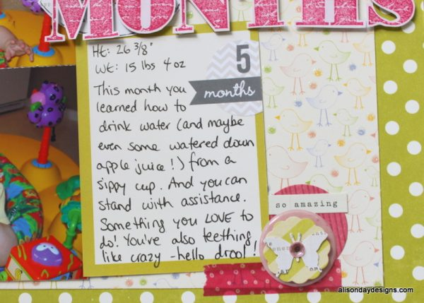 Hello 5 Months by Alison Day Designs