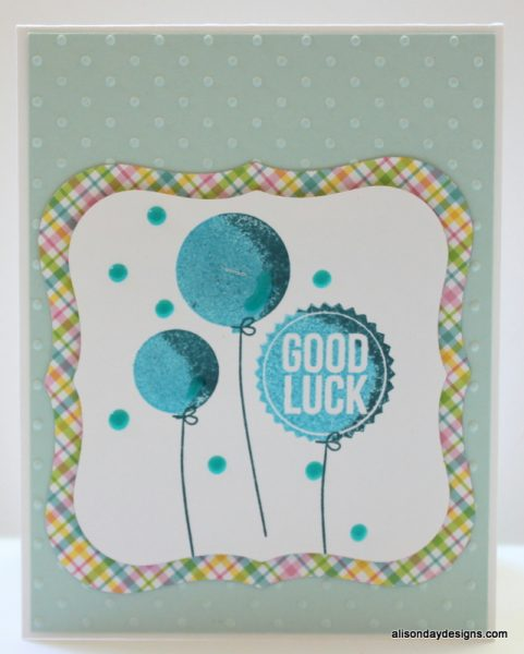 Good Luck two tone balloons by Alison Day Designs