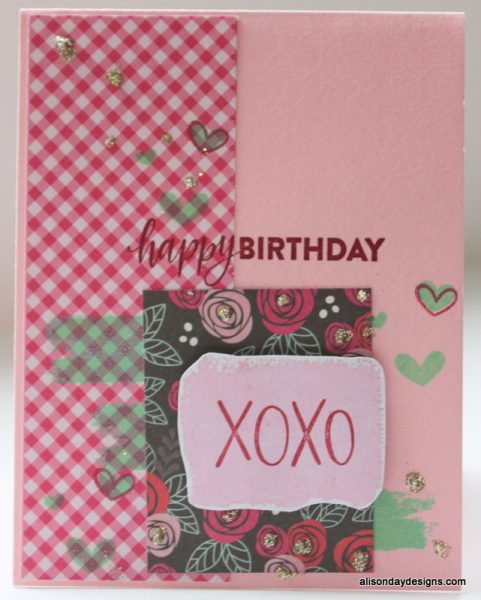 Happy Birthday XOXO by Alison Day Designs