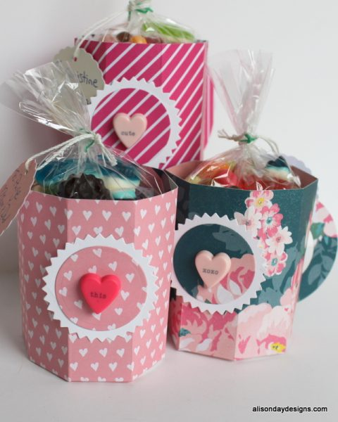 Paper Mugs for Valentine's Day by Alison Day