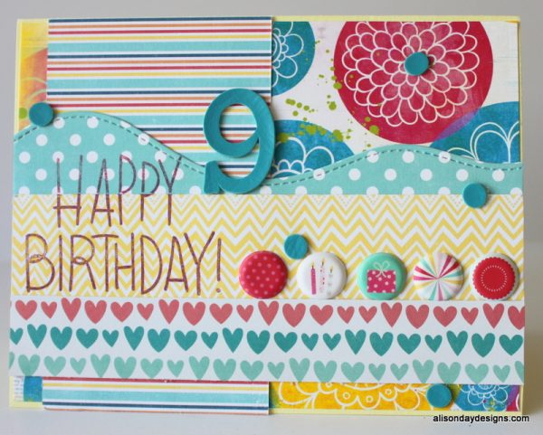 Jessica's 9th birthday card by Alison Day