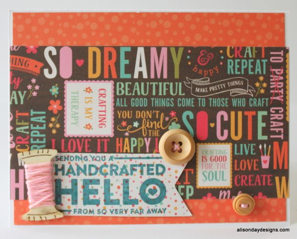 Sewing Spool Card by Alison Day