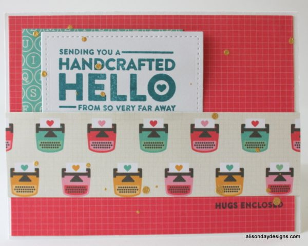 Typewriter Hello Card by Alison Day