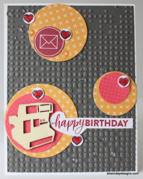 Happy Birthday Circles Card by Alison Day