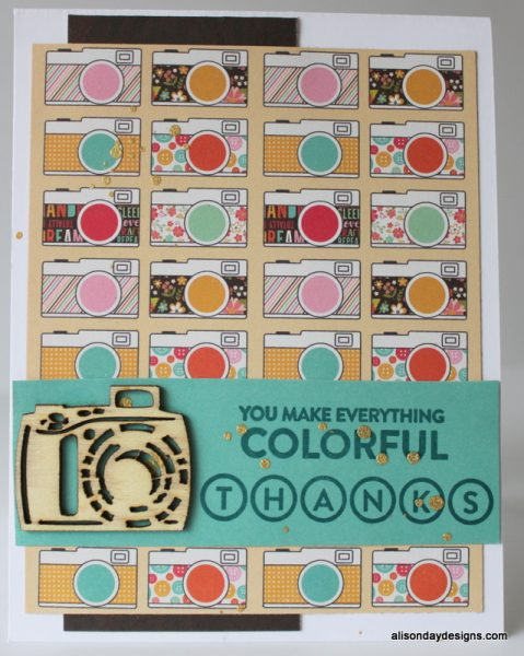 Camera Thanks Card by Alison Day