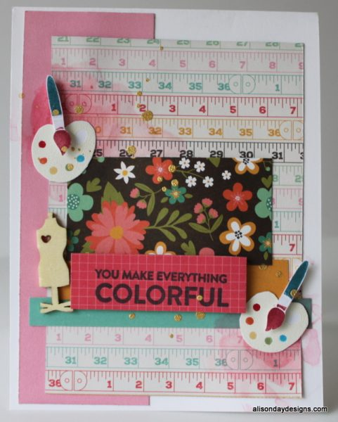 Paint Pallettes Card by Alison Day