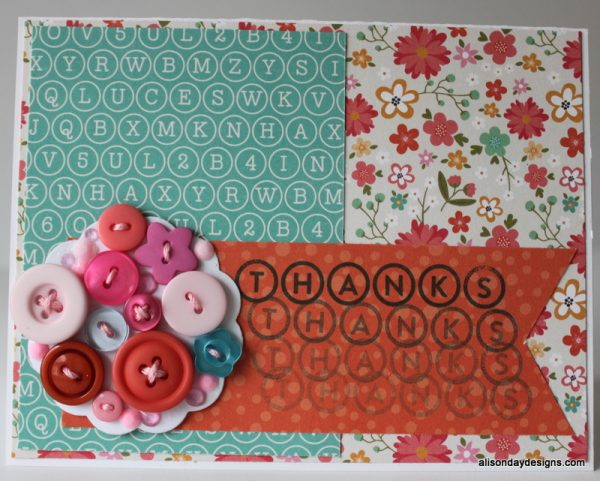 Button Flower Card by Alison Day