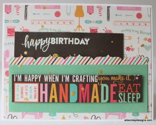Handmade Happy Birthday Card by Alison Day