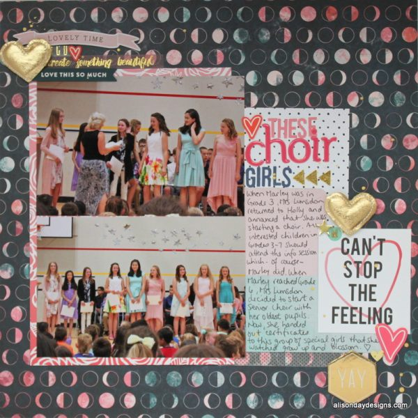 Layout #13 - (Heart) These Choir Girls by Alison Day