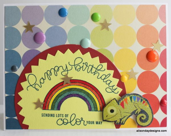 Rainbow Happy Birthday card by Alison Day