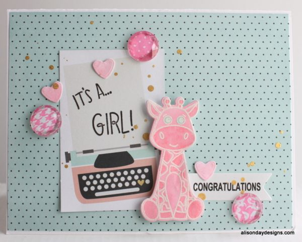 It's a Girl card by Alison Day